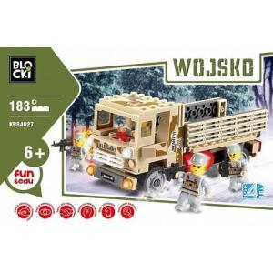 Klocki Blocki Wojsko Ciężarówka 183 elementy