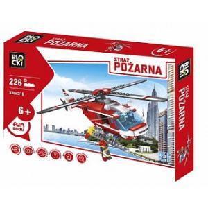 Klocki Blocki Straż Pożarna Helikopter 226 elementów