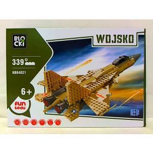 Klocki Blocki Wojsko Odrzutowiec Wojskowy 339 Elementów