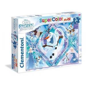 Puzzle Maxi 24 SuperColor Olaf's Frozen Adventure