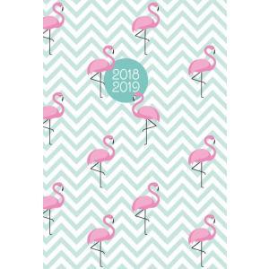 Kalendarz 2018/2019 18-miesięczny. Flamingi. Oprawa twarda. Albi.