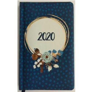 Kalendarz 2020 Tygodniowy Kwiaty Niebieskie