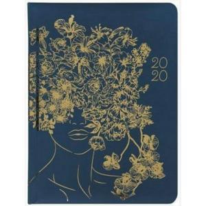 Kalendarz 2020 tygodniowy B6 Złote kwiaty