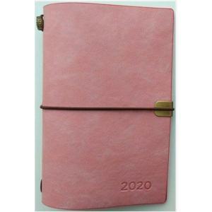 Kalendarz 2020 tygodniowy luksusowy różowy