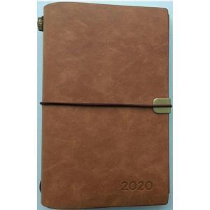 Kalendarz 2020 tygodniowy luksusowy brązowy