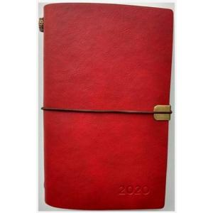 Kalendarz 2020 tygodniowy luksusowy czerwony