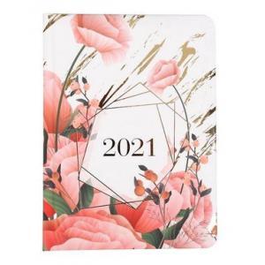 Kalendarz tygodniowy B6 2021 Kwiaty ALBI