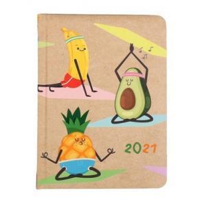 Kalendarz tygodniowy B6 2021 Kraft owoce ALBI