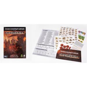 Gloomhaven usuwalne naklejki do gry