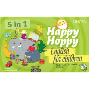 Happy Hoppy English for Children. 5 in 1 (sing, play and learn) wyd.2