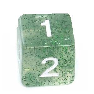 Kość Rebel brokatowa 6 ścian -cyfry