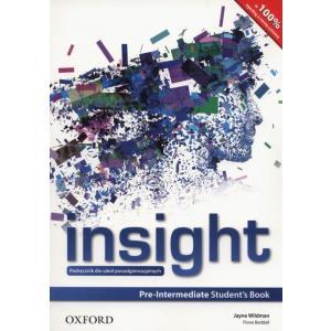 Insight Pre-Intermediate Student's Book (Podręcznik Wieloletni)