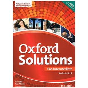 Oxford Solutions Pre-Intermediate. Podręcznik