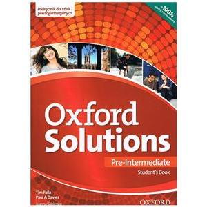 Oxford Solutions Pre-Intermediate. Podręcznik