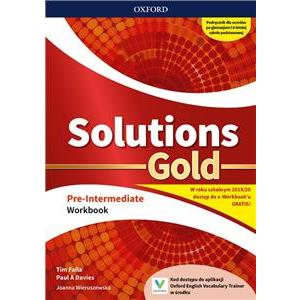 Solutions Gold. Pre-Intermediate. Workbook + kod online. Wyd.2019