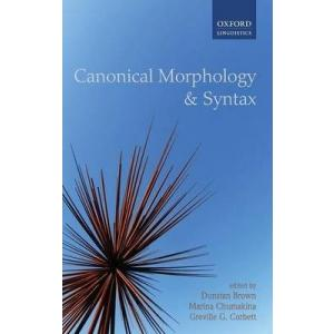 Canonical Morphology and Syntax