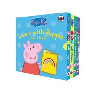 Learn with Peppa Pig box (4 board books)