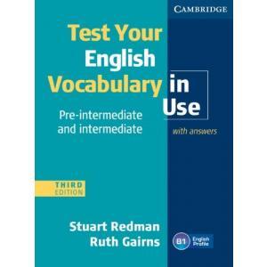 Test Your English Vocabulary in Use Pre-Intermediate and Intermediate. Książka z Kluczem