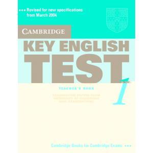 Cambridge Key English Test 1. Teacher's Book