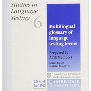 Multilingual Glossary of Language Testing Terms CDROM