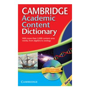 Cambridge Academic Content Dictionary + CD-ROM