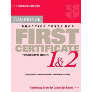 Cambridge Practice Tests for First Certificate 1 and 2 Teacher's book