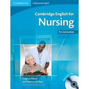 Cambridge English for Nursing Pre-Intermediate. Edycja Polska. Podręcznik + CD
