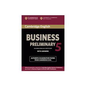 Cambridge English Business (BEC) Preliminary 5. Podręcznik z Odpowiedziami
