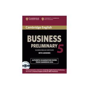 Cambridge English Business (BEC) Preliminary 5.  Self-Study Pack (Podręcznik z Odpowiedziami + CD)