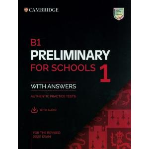 B1 Preliminary for Schools 1 for revised exam from 2020 Student's Book Pack