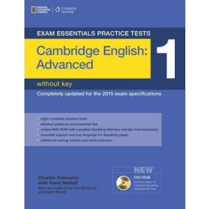 Exam Essentials Practice Tests: Cambridge English Advanced (CAE) 1. Książka bez Klucza + DVD