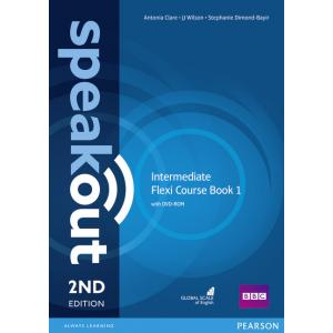 Speakout 2ed Intermediate Flexi Course Book 1 with DVD-ROM