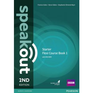 Speakout 2ed Starter Flexi 1 Course Book with DVD-ROM