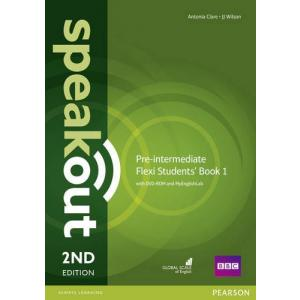 Speakout Pre-Intermediate 2nd Edition Flexi Students' Book 1 with DVD-ROM and MyEnglishLab
