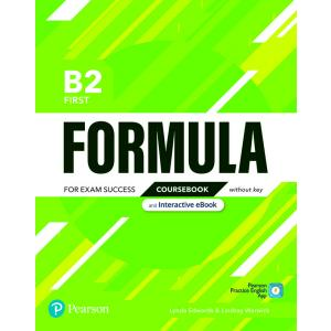 Formula. B2 First. Coursebook without key with student online resources + App + eBook