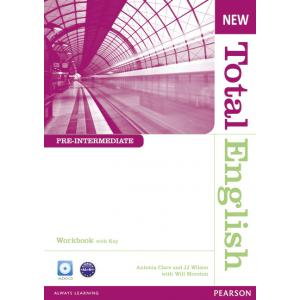 New Total English Pre-Intermediate.   Ćwiczenia z Kluczem + CD