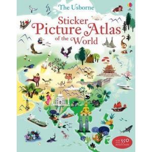 Sticker picture atlas of the world /atlas z naklejkami/