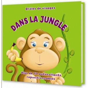 LF Droles de visages Dans la jungle + naklejki