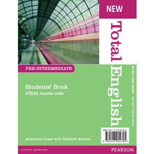 New Total English Pre-Intermediate. eText Students' Book Access Card