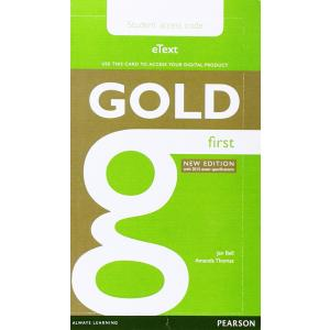 Gold First. eText Student's AccessCodeCard