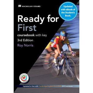 Ready for First 3Ed. Podręcznik (z Kluczem) z Kodem do Ćwiczeń Online + eBook
