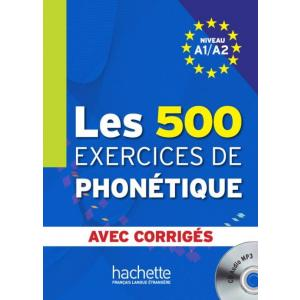 Les 500 Exercices De Phonetique A1/A2 podręcznik +CD
