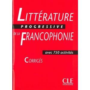 Litterature progressive de la Francophonie : Corriges