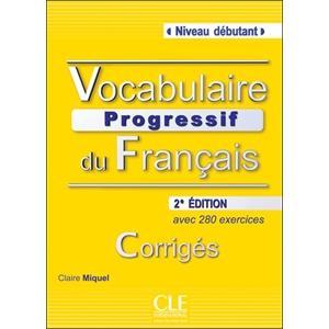Vocabulaire Progressif du Francais Debutant. Klucz Odpowiedzi
