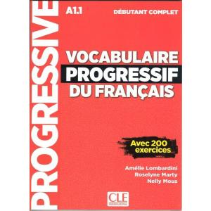 Vocabulaire progressif du Francais niveau debutant complet A1.1 Książka