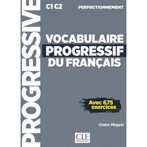 Vocabulaire progressif du francais niveau perfectionnement 675 exercices +CD