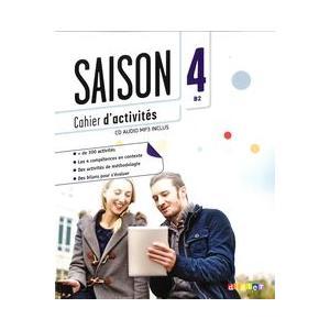 Saison 4. Ćwiczenia + CD. Poziom B2