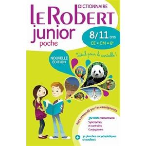Dictionnaire Le Robert junior poche  8/11 ans
