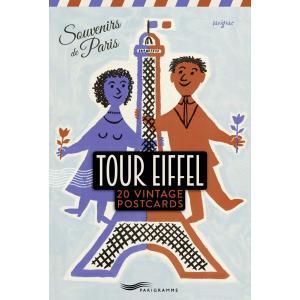 Tour Eiffel20 vintage postcardssouvenirs de Paris