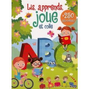 LF Lis, apprends joue et colle /książka do nauki alfabetu + naklejki/